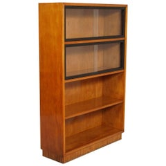 1930s Italian Art Deco Gio Ponti Style Bookshelf, Bookcase with Display Cabinet
