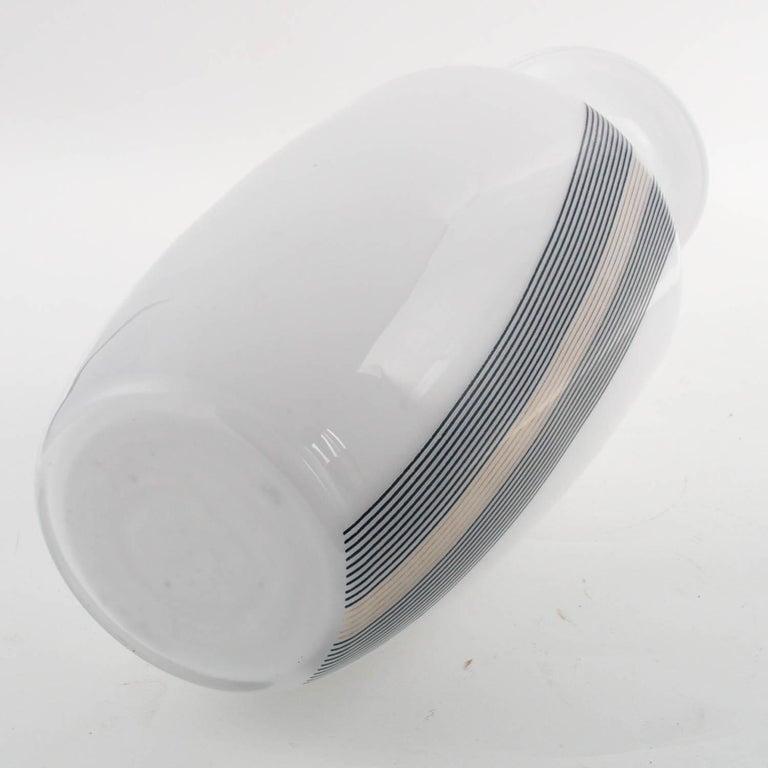Italian 1960s Vase, Tapio Wirkkala for Venini Attributable, Lattimo Murano Glass For Sale