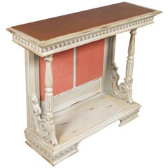 Early 20th Century shabby chic Baroque Revival Console, Blond Walnut, restored