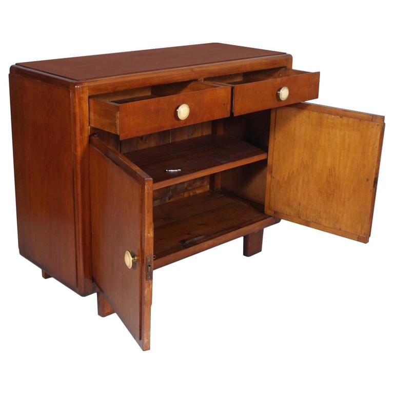 Early 20th Century Art Deco Cupboard, Two Drawers by Meroni & Fossati, Lissone In Good Condition For Sale In Vigonza, Padua