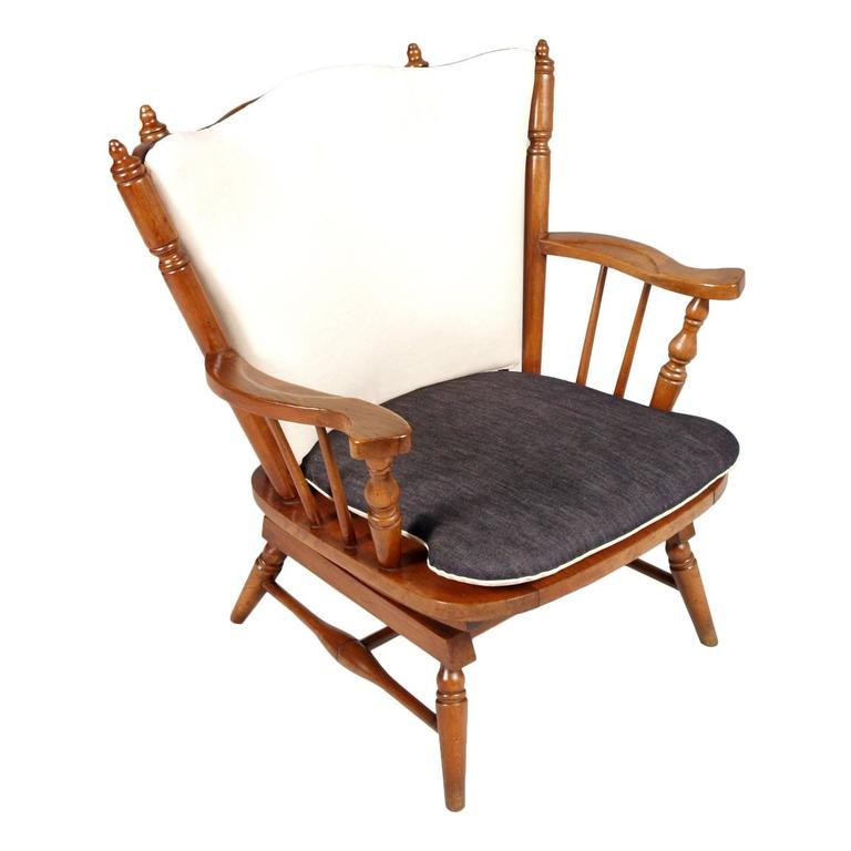 Sturdy Style Old America 1930s Chestnut Chiavari Rocking Chairs With  Springs, Restored New Upholster Measures