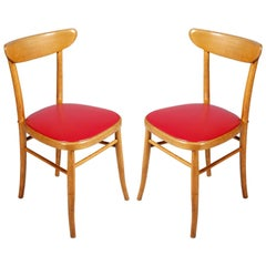 Pair of Italian Midcentury Side Chairs Hans J Wegner Style