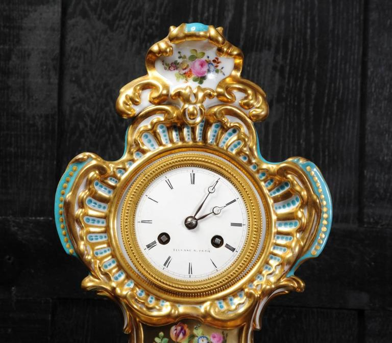 Early French Rococo Porcelain Boudoir Clock Silk Suspension Movement For Sale At 1stdibs