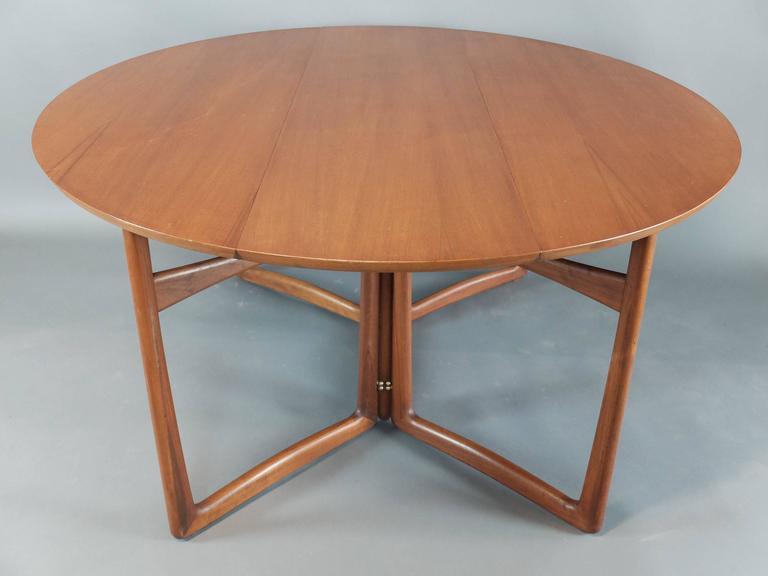 Danish Teak Dining Table by Peter Hvidt & Orla Molgaard Nielsen for France & Son 3