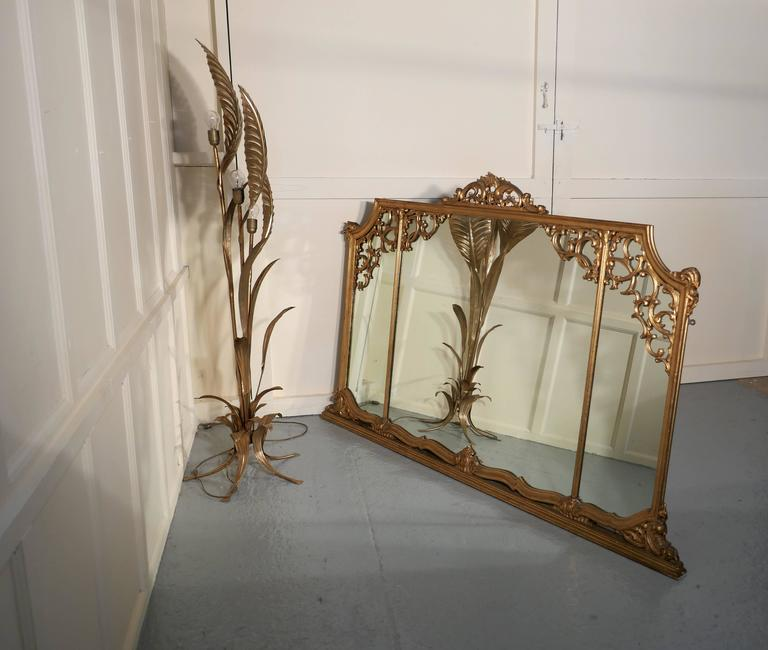 Very Large 19th Century Adams Style Gilt over Mantle Wall Mirror For Sale 4