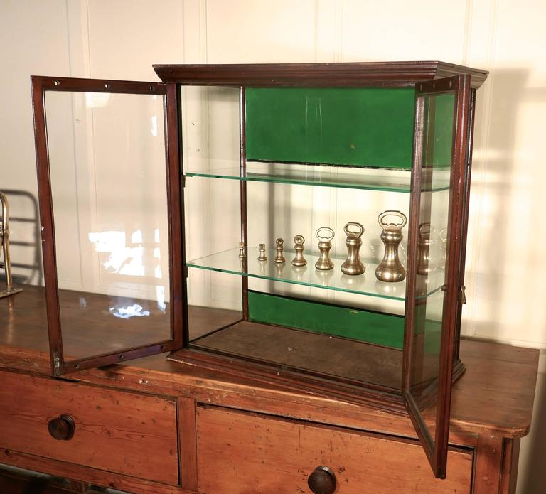 Victorian counter top shop display cabinet, sweet shop This glazed shop  display cabinet is made - Victorian Counter Top Shop Display Cabinet, Sweet Shop For Sale At