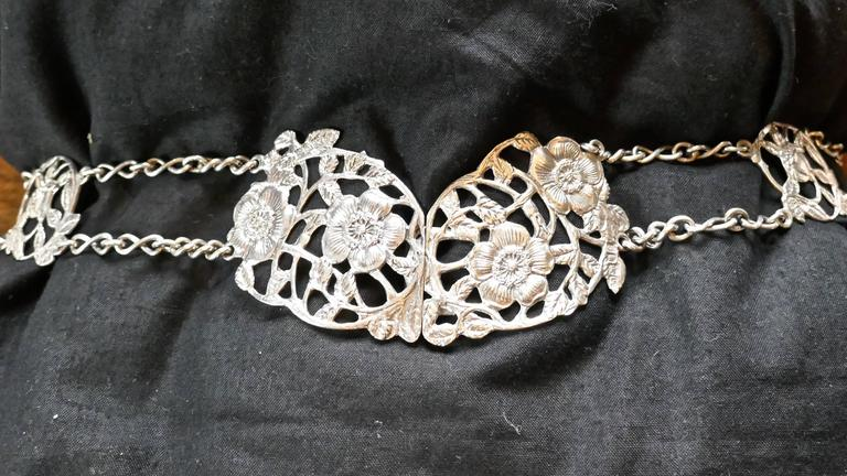 Lovely Art Nouveau silver belt and buckle.
