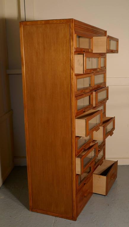 Vintage Art Deco Haberdashery Cabinet, Shop Fitting This Tall, Golden Oak  Multi Drawer Haberdashery