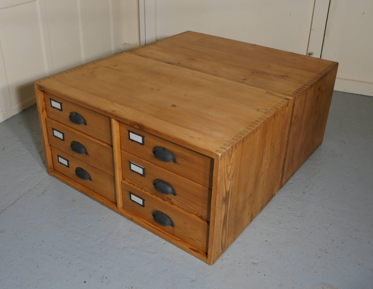 Pair Of Stacking Filing Cabinet Drawers Side Tables Or Large Coffee Table For Sale At 1stdibs