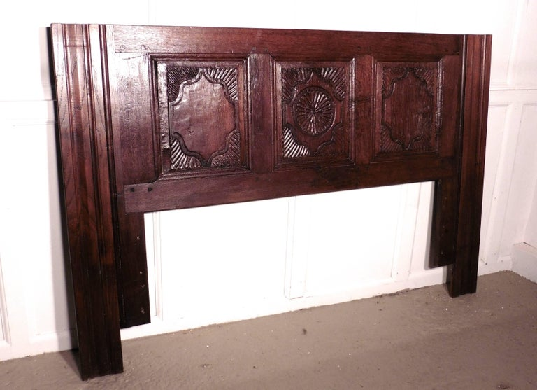 French gothic carved oak bed head board for sale at stdibs