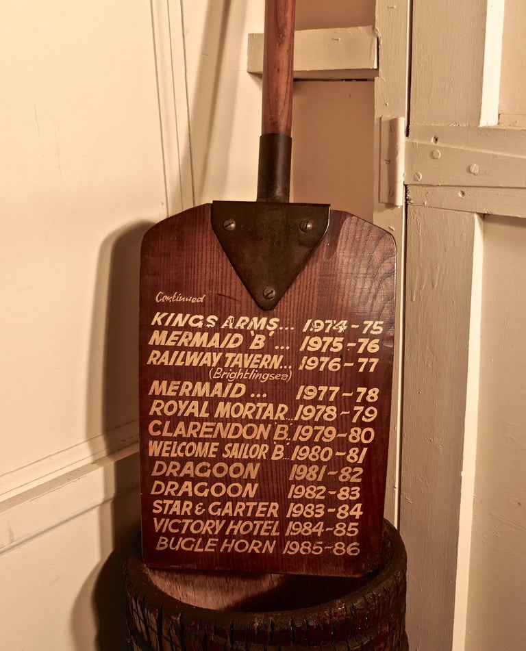 Folk Art Darts League Pub Notice Board Colchester Hop Shovel For Sale