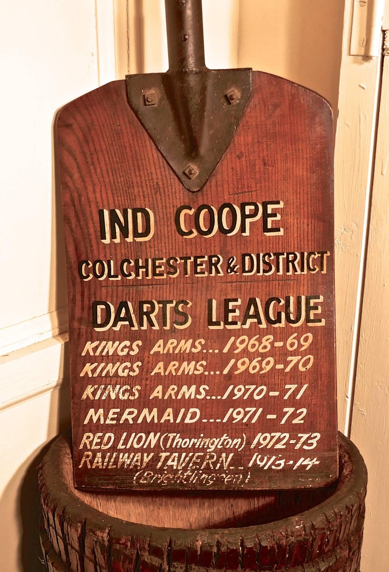 English Darts League Pub Notice Board Colchester Hop Shovel For Sale