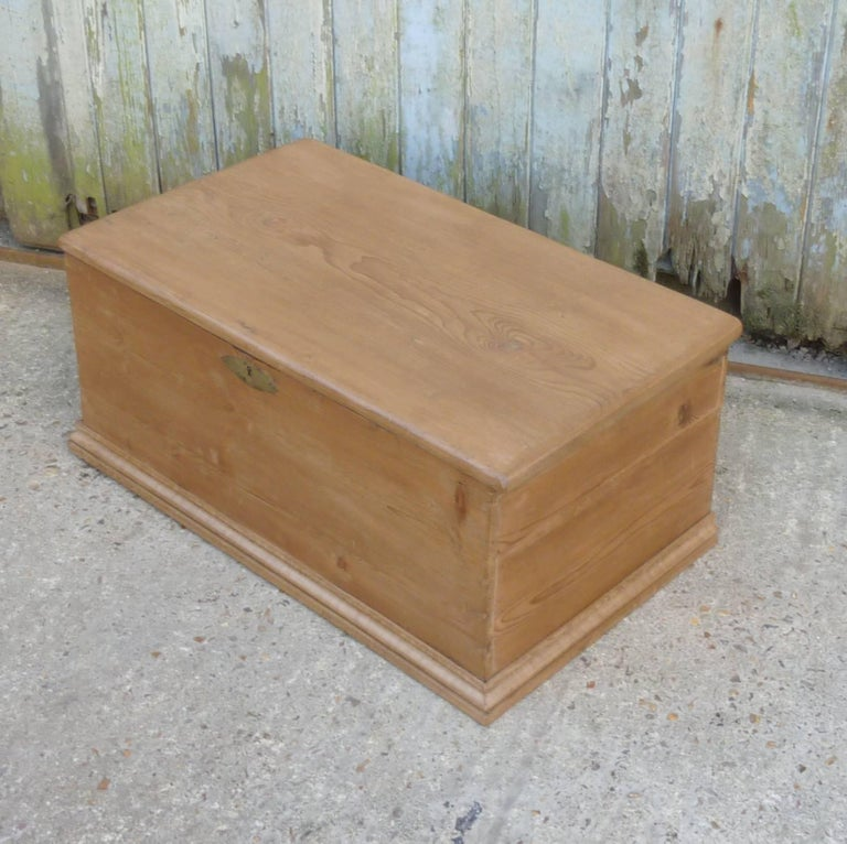 Victorian Pine Blanket Box Or Coffee Table For Sale At 1stdibs