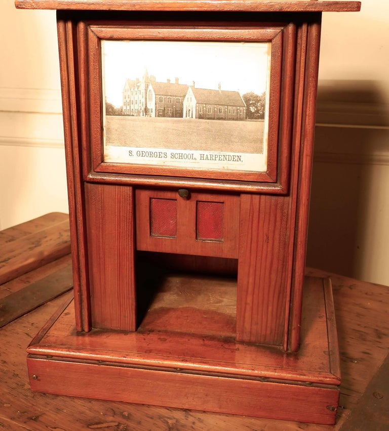Edwardian Victorian School House Letter Box, Post Box, 19th Century Post Box, Mail Box For Sale