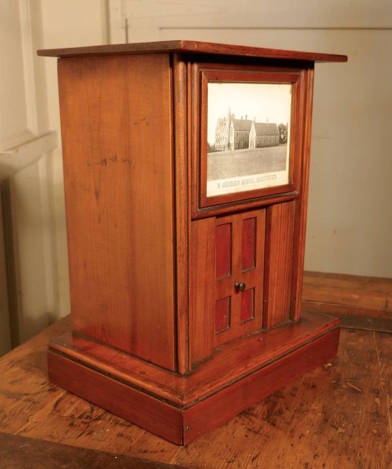 Victorian School House Letter Box, Post Box, 19th Century Post Box, Mail Box For Sale 1