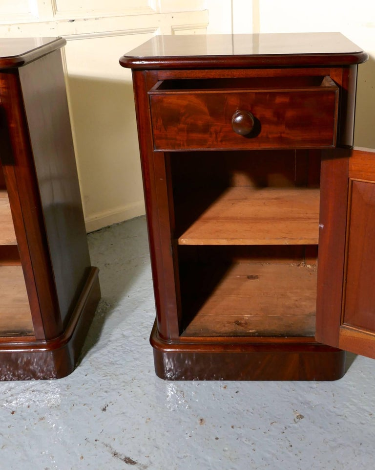 Pair of Victorian Mahogany Bedside Cupboards In Excellent Condition For Sale In ., GB