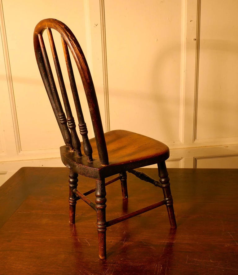 Kitchen Chairs For Sale: 19th Century Miniature Beech And Ash Hoop Back Kitchen