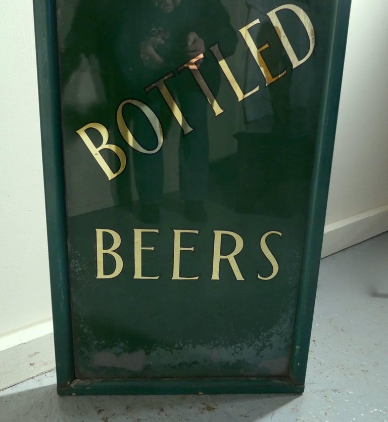 English 19th Century Pub Mirror Advertising Sign For Sale