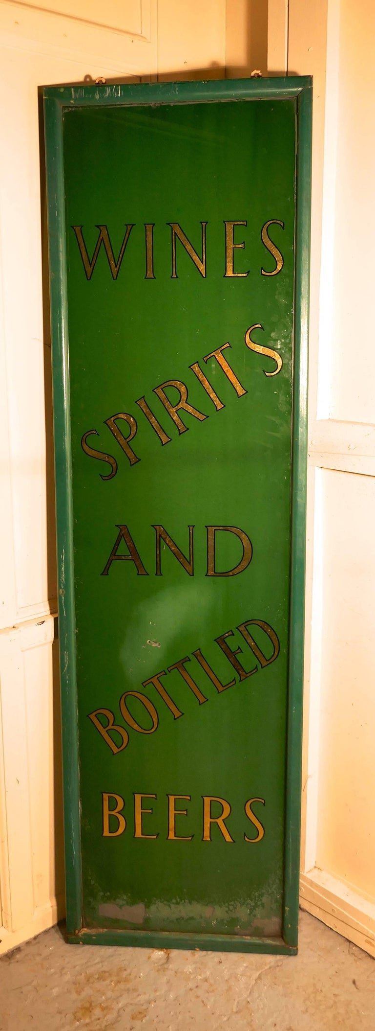 19th Century Pub Mirror Advertising Sign For Sale 4