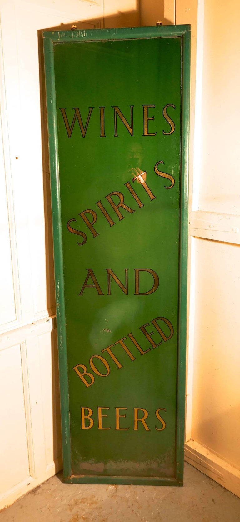 19th Century Pub Mirror Advertising Sign For Sale 2