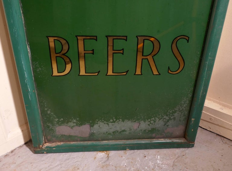 19th Century Pub Mirror Advertising Sign For Sale 1