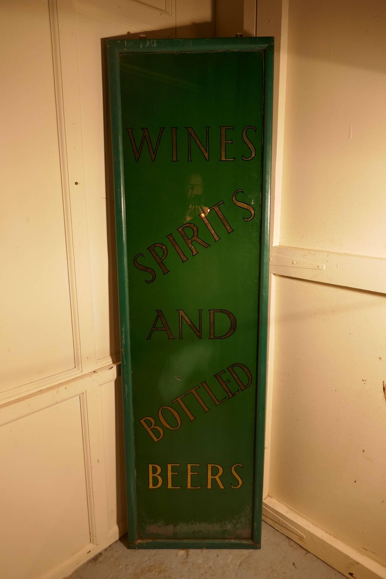 19th Century Pub Mirror Advertising Sign For Sale 3
