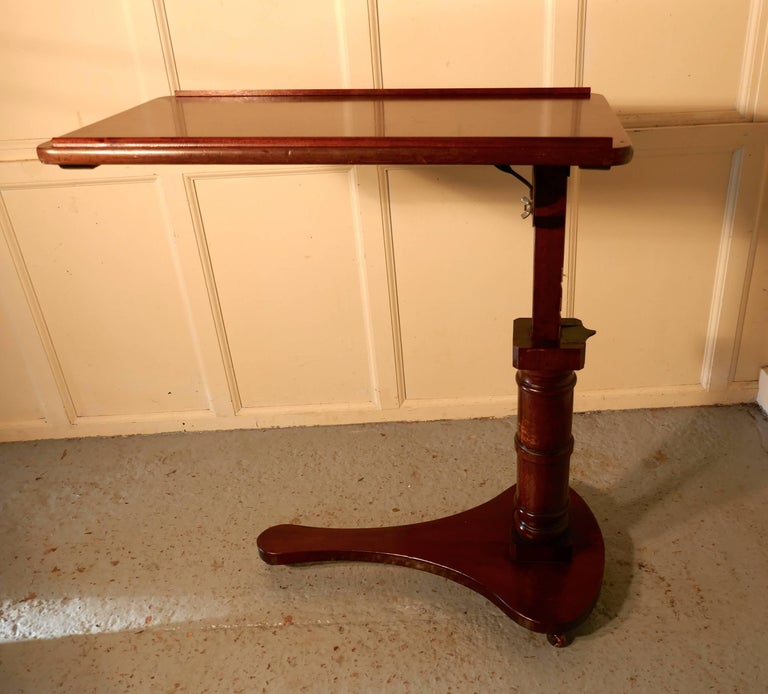Victorian Mahogany Reading Stand Over Bed Table At 1stdibs