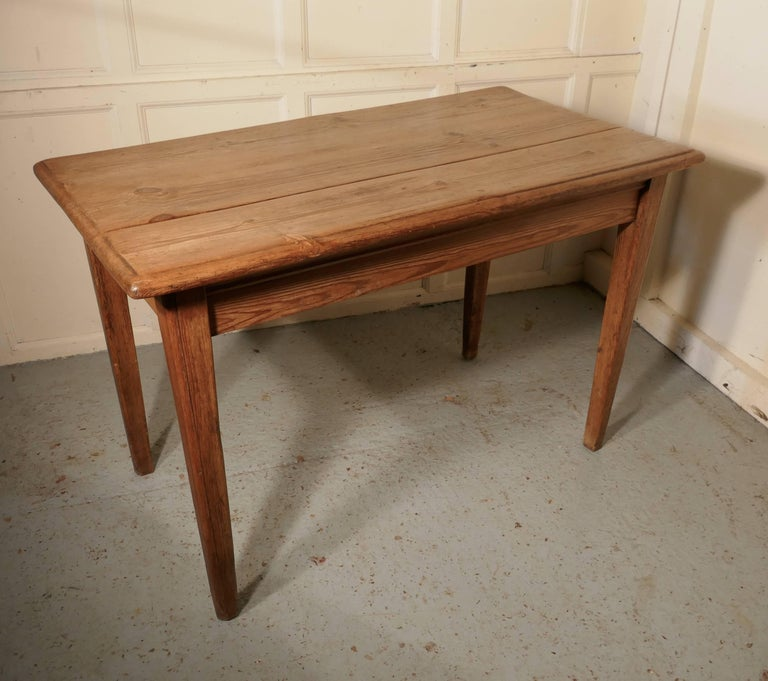 Victorian Planked Top Farmhouse Kitchen Pine Table For Sale At 1stdibs