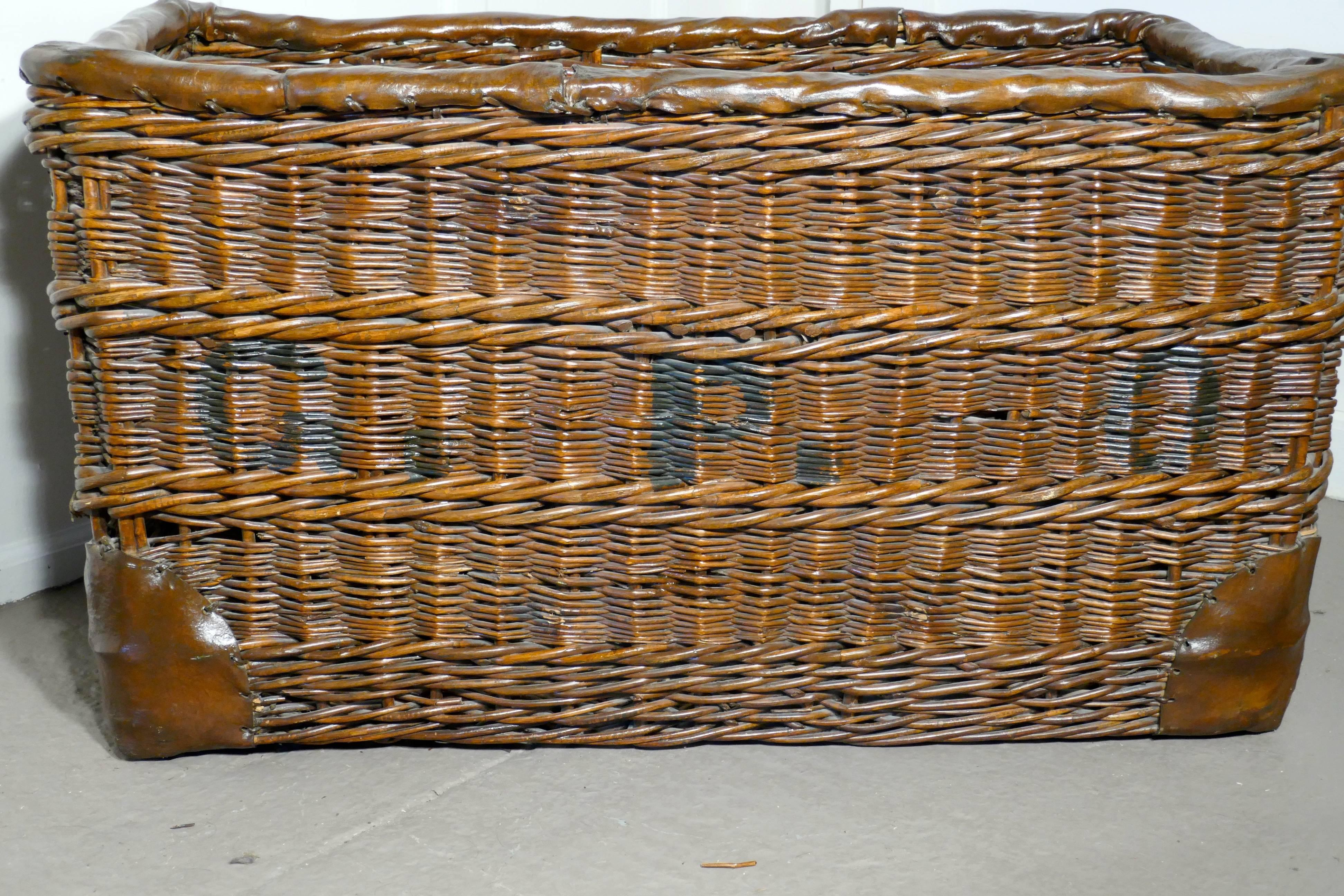 Edwardian G.P.O. Wicker Post Or Mail Basket. A Lovely Big Basket, No Longer  Required