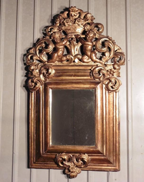 Large 18th Century Carved English Giltwood Mirror In Good Condition For Sale In Chillerton, Isle of Wight