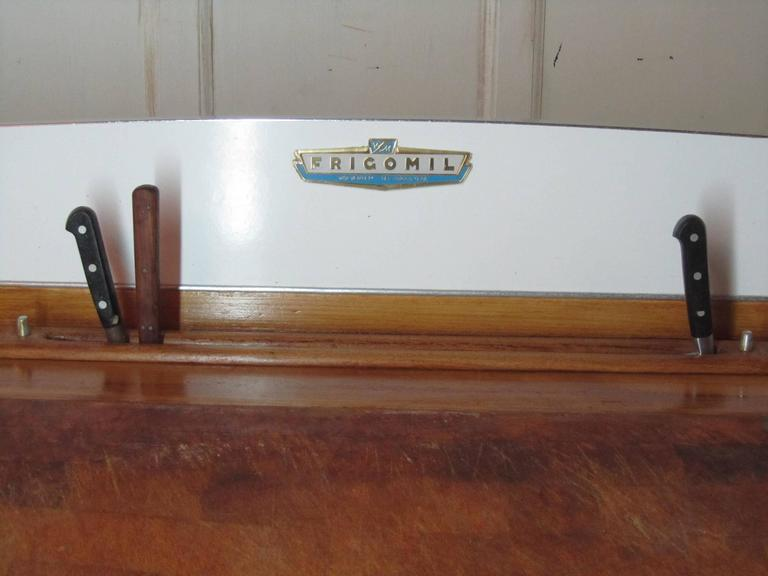 1920s, Belgian Art Deco Maple and Formica Butchers Block, Kitchen Island In Fair Condition For Sale In ., GB