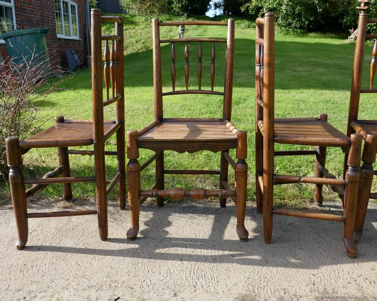 Set Of Six 18th Century Clissett Style Elm And Ash
