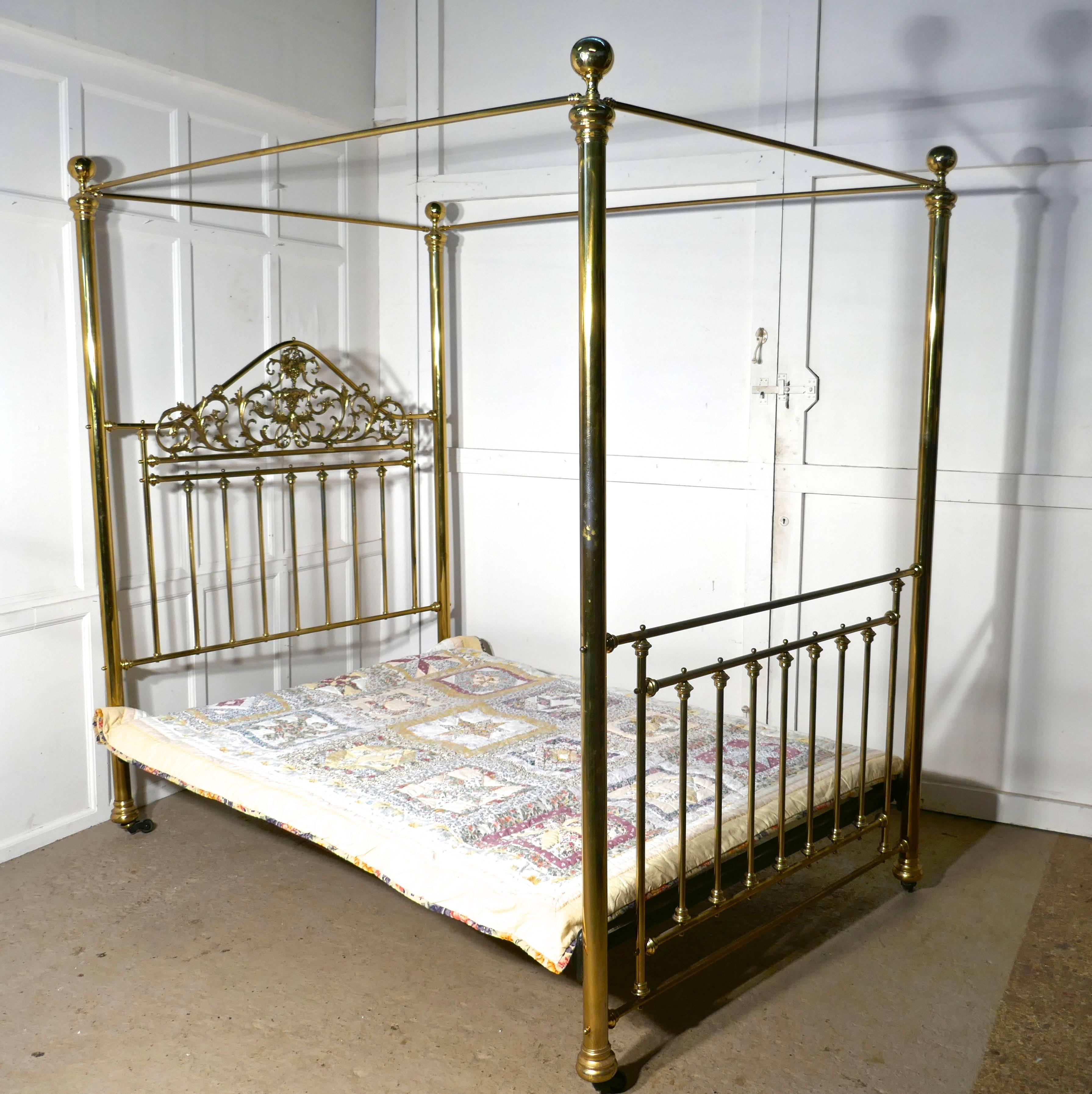 category canopy archived headboard size on frame gorgeous furniture iron double full four for elegant poster post of bedroom bed metal