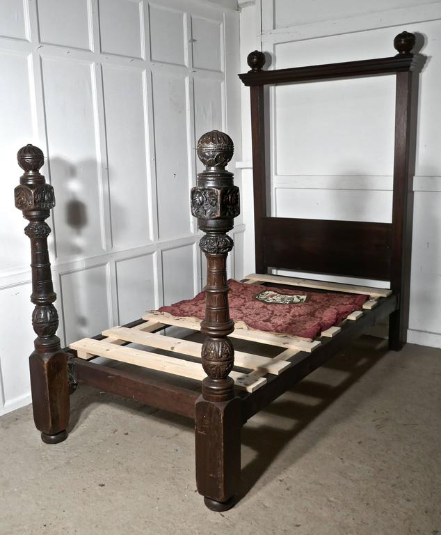Four Poster Double Bed Part - 23: Pair Of Gothic Carved Oak Four Poster Single/Double Beds, 16th Century  Carving 2