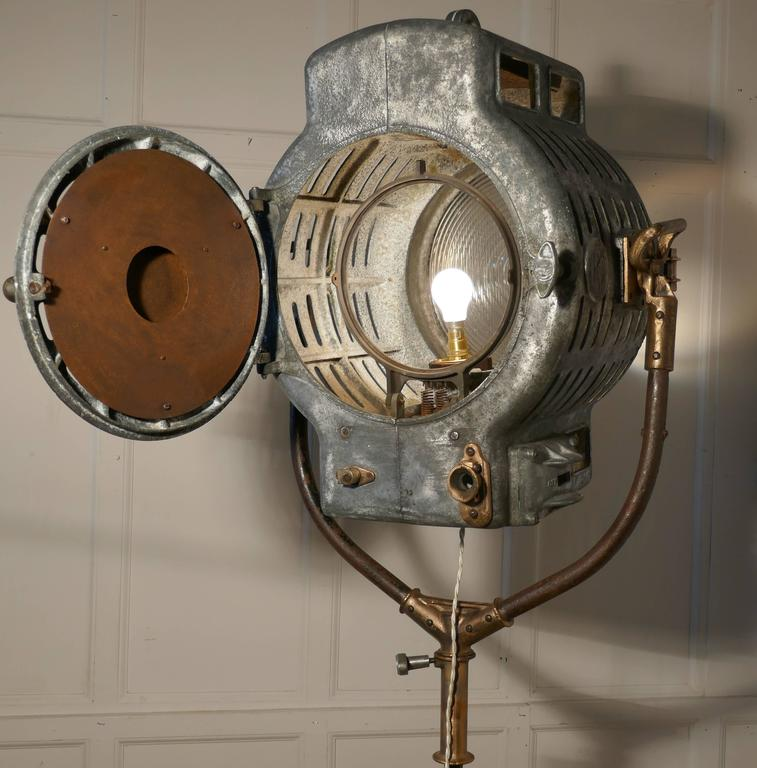 Large Art Deco Vintage Theatre Flood Light Or Spot Light