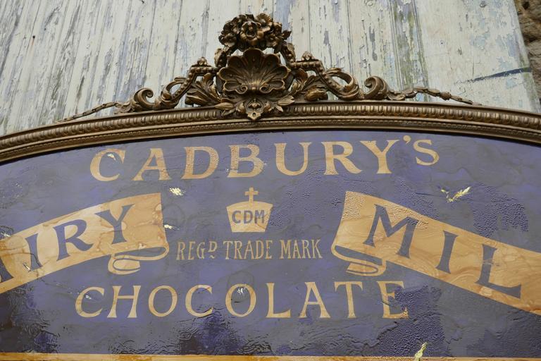 Large Victorian Advertising Mirror Cadbury S Chocolate