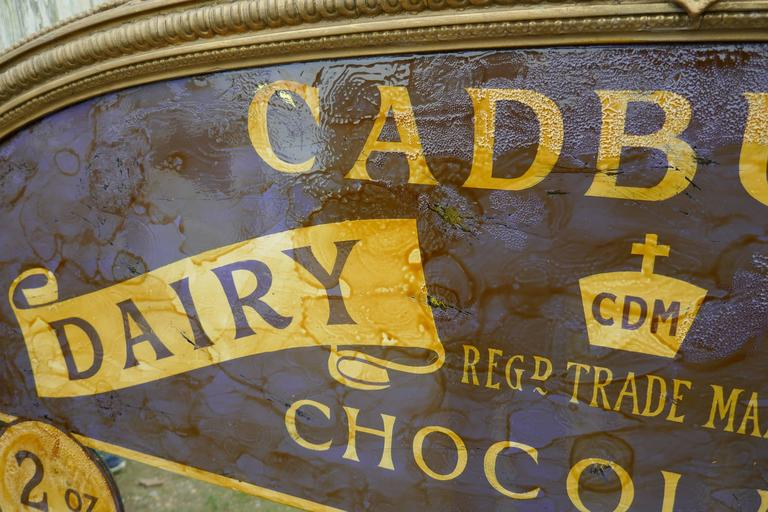 Large Victorian Advertising Mirror Cadbury S Chocolate