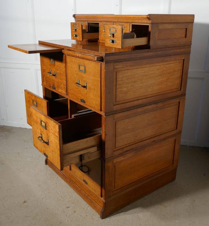 Cabinet Maker Clip Art: Large Edwardian 11-Drawer Oak Filing Cabinet By Shannon At