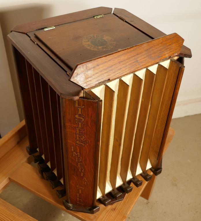 An Unusual Revolving Lister Imperial Silks Haberdashers Cabinet. This Is A  Very Different Piece,