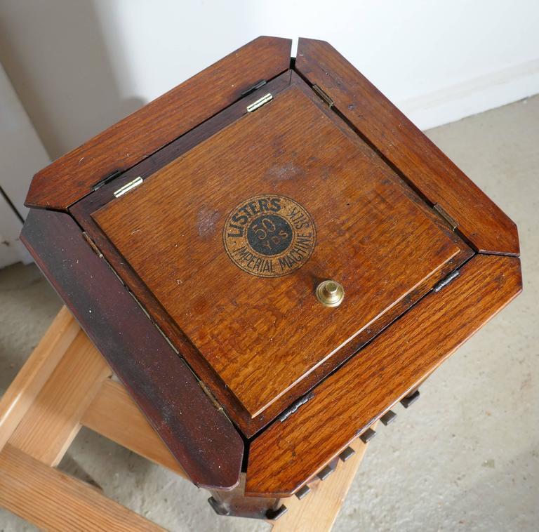 Industrial Unusual Revolving Lister Imperial Silks Haberdashers Cabinet For  Sale