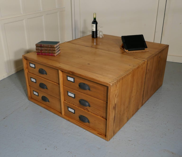 Pair Of Stacking Filing Cabinet Drawers, Side Tables, Or