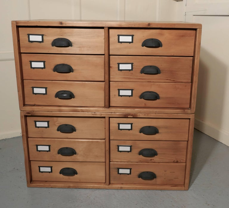 Pair of stacking filing cabinet drawers side tables or for Large coffee table with drawers