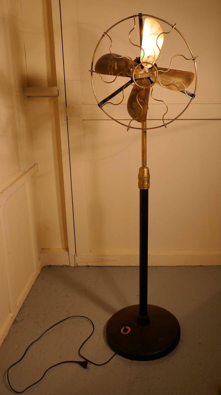 Pedestal Fan Base : Brass electric telescopic pedestal fan by mirelli