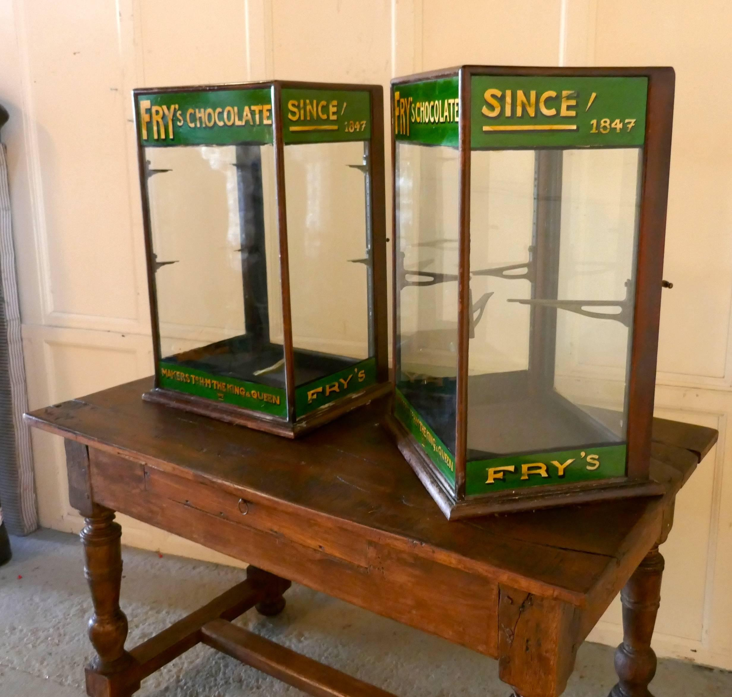 Pair Of Edwardian Fryu0027s Counter Top Shop Display Cabinets, Sweet Shop For  Sale At 1stdibs