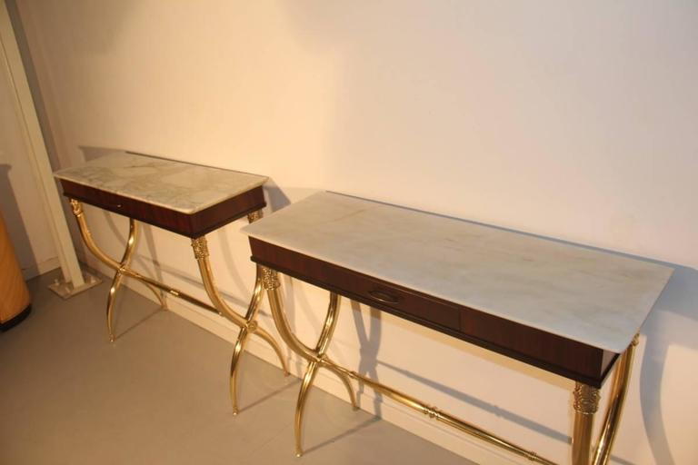 Pair of Consoles in Paolo Buffa Design, Italian, Midcentury For Sale 3