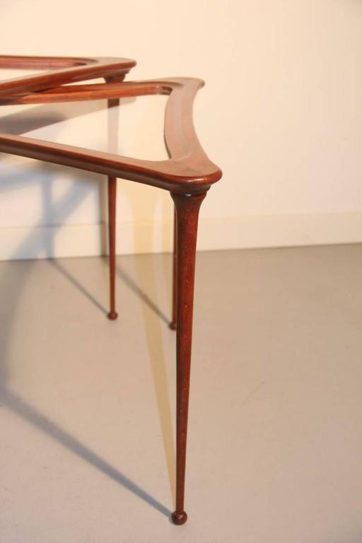 Pair of Coffee Tables Attributed to Osvaldo Borsani, circa 1948 For Sale 1
