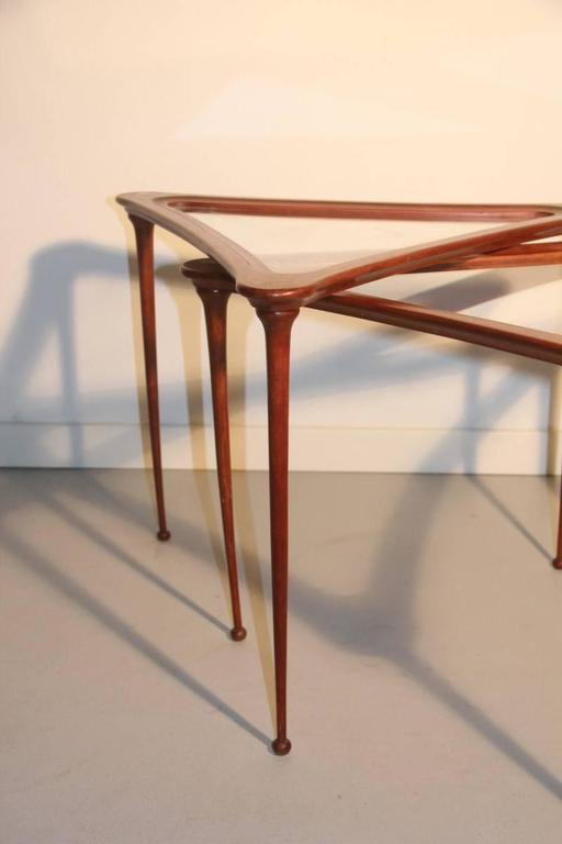 Pair of Coffee Tables Attributed to Osvaldo Borsani, circa 1948 For Sale 2