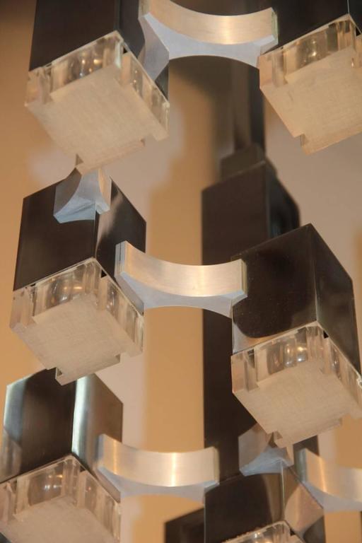 Mid-Century Modern Sculpture Cubic Design Sciolari 1960s Italian Design Minimalist For Sale