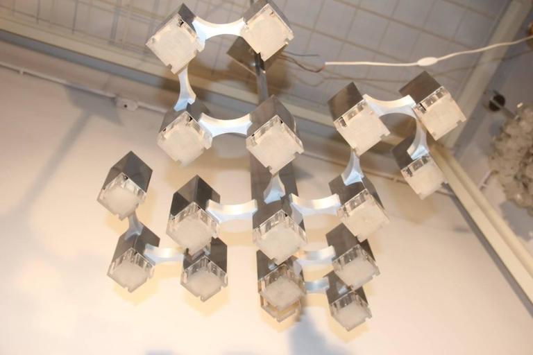 Sculpture Cubic Design Sciolari 1960s Italian Design Minimalist For Sale 1