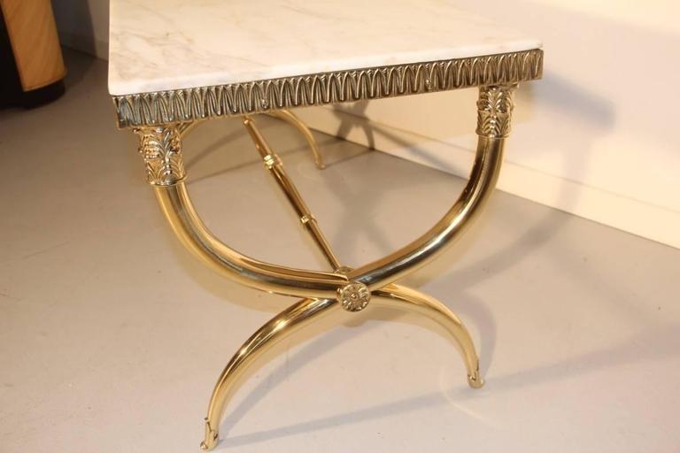 brass coffee table italian design, mid-century, 1950s paolo buffa